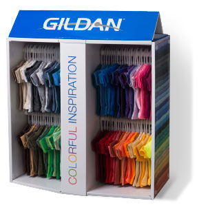 Gildan Mini-Tee Display
